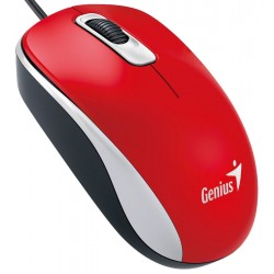 Mouse DX-110 USB Optico Rojo